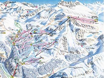 Bild von Skipistenkarte Madesimo am Comersee